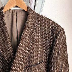 Joseph Abboud Brown Wool Tweed Sport Coat - 42R